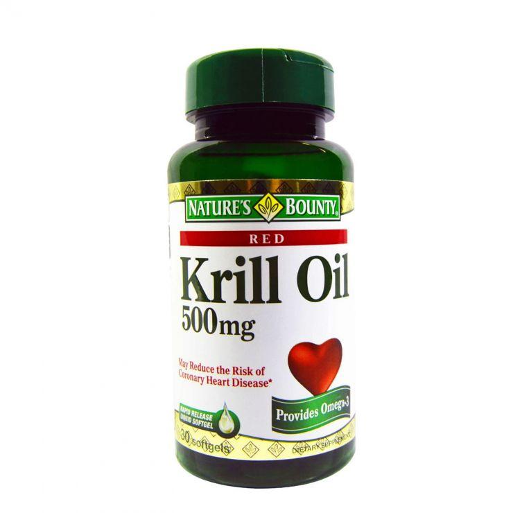 Нэйчес баунти Масло криля 500 мг, 30 капсул