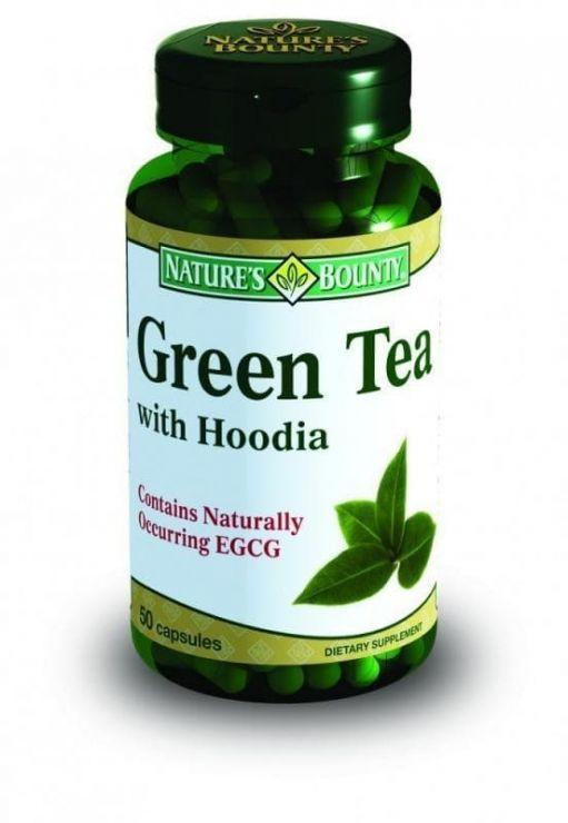 Нэйчес Баунти Чай зелёный с Худией, 50 капс.