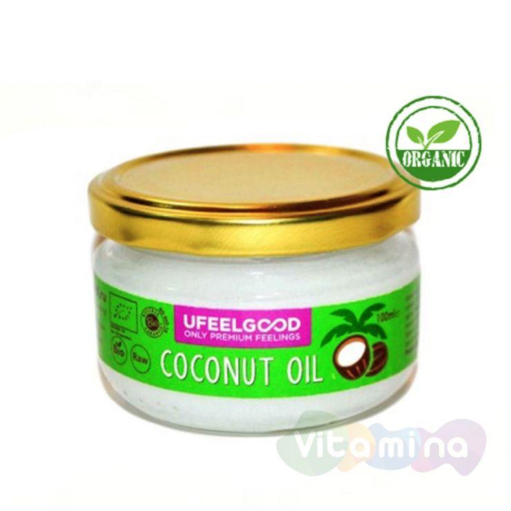 Organic Кокосовое масло, холодный отжим (Coconut premium oil), 100 мл