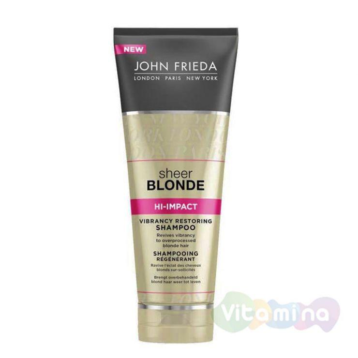 Восстанавливающий шампунь для сильно поврежденных волос John Frieda Sheer Blonde Hi Impact