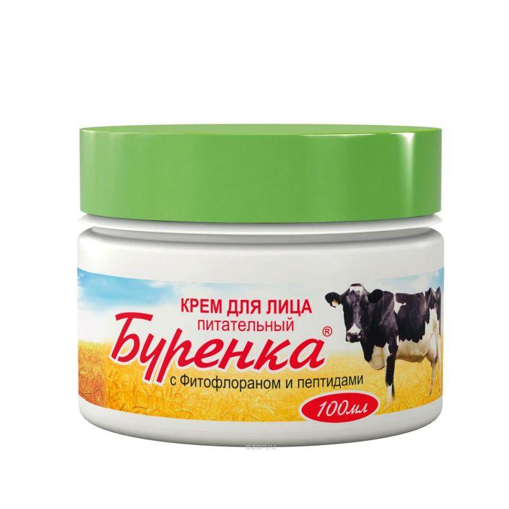 Лошадиная сила крем буренка питательный для лица с фитофлораном и пептидами, 100 мл