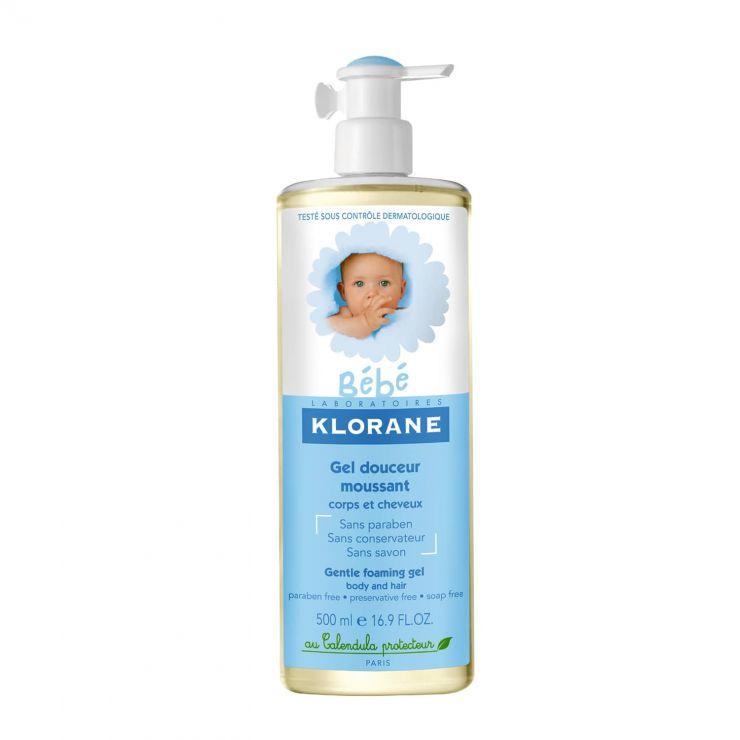 Клоран Бебе Гель для волос и тела, мягкий пенящийся с экстрактом календулы 500мл