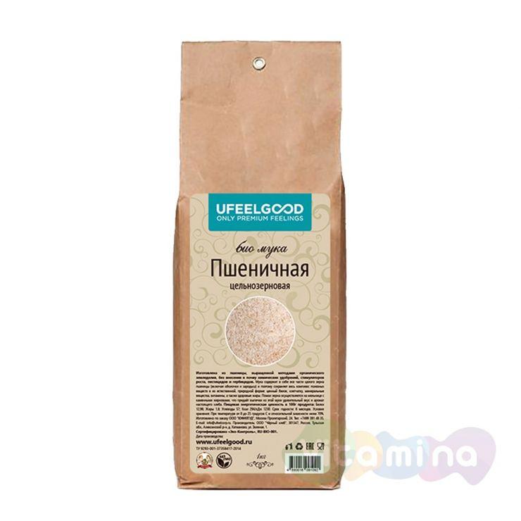 Мука пшеничная цельнозерновая Био, 1 кг