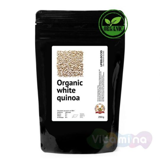 Organic Киноа Белые семена (Quinoa white seeds), 150 г