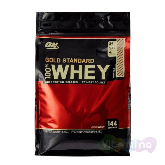 Протеин Optimum Nutrition 100% Whey protein Gold standard 10 lb (4,54 кг)